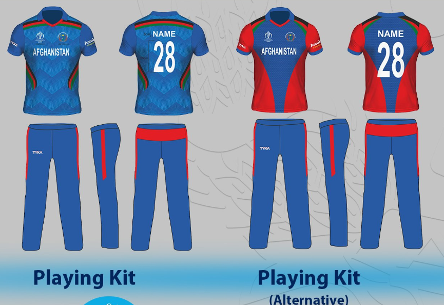 Afghanistan Team Jersey Kit for ICC Cricket World Cup 2019