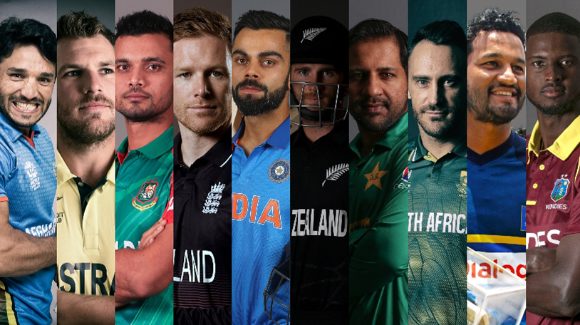 All Team Captains for the ICC Cricket World Cup 2019