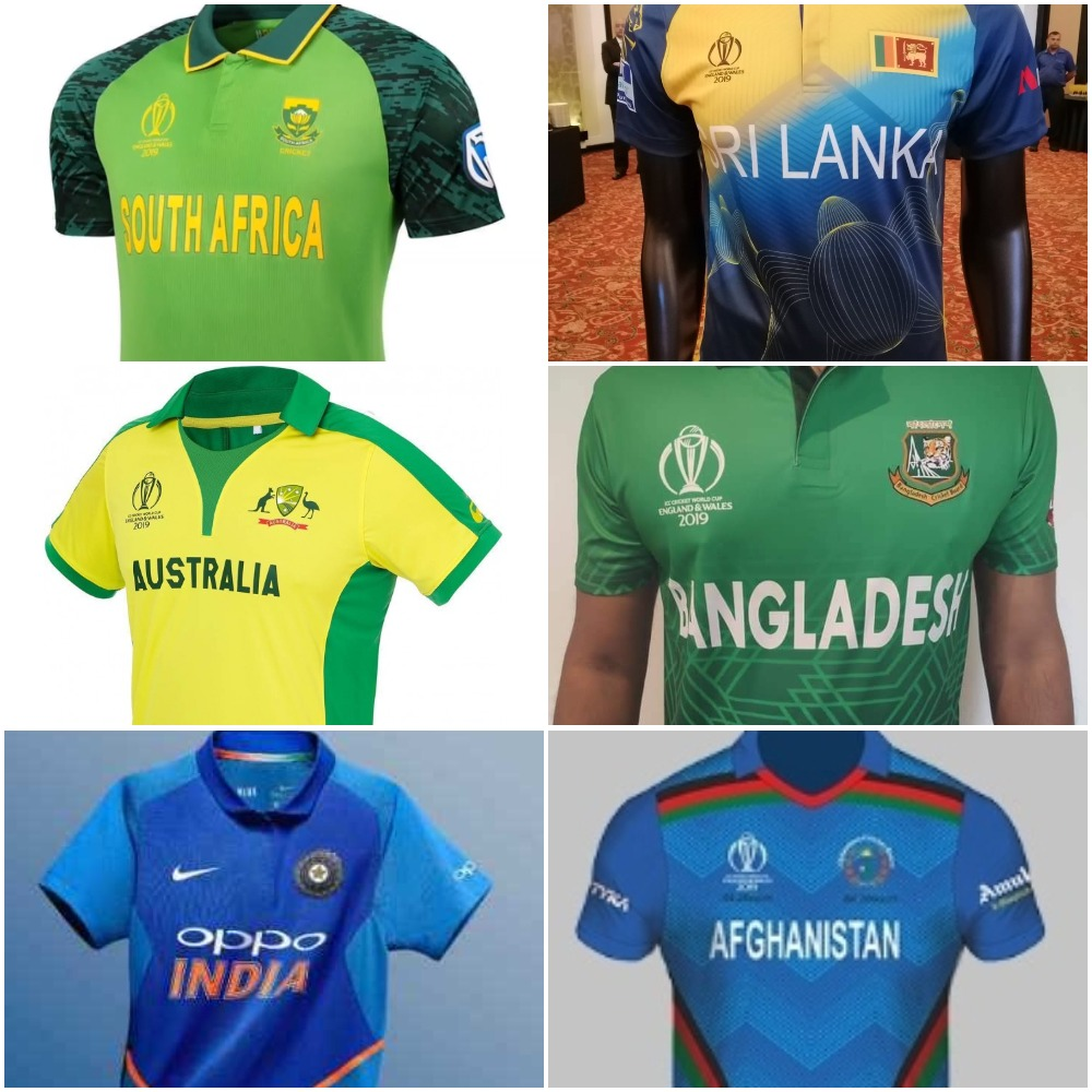 d51f87676 ICC Cricket World Cup 2019 All Team Jersey Kits.  Official  - CricPUB