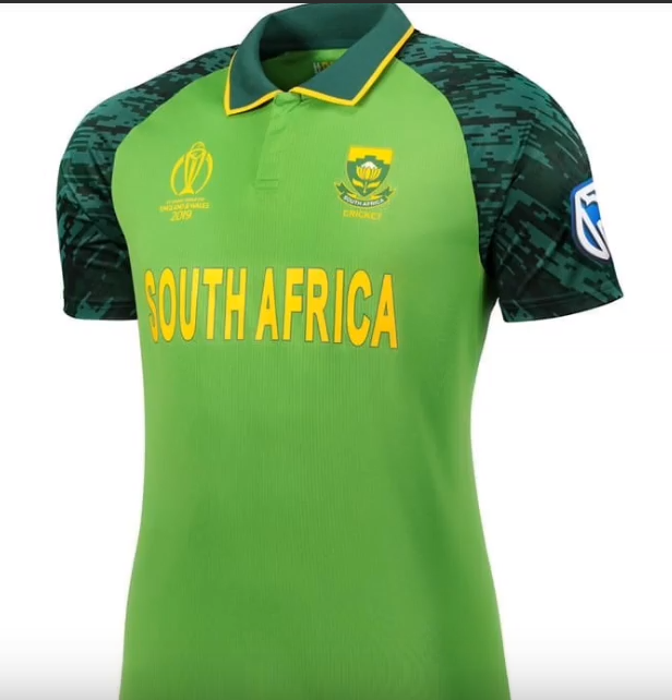 South Africa Team Kit for the ICC Cricket World Cup 2019