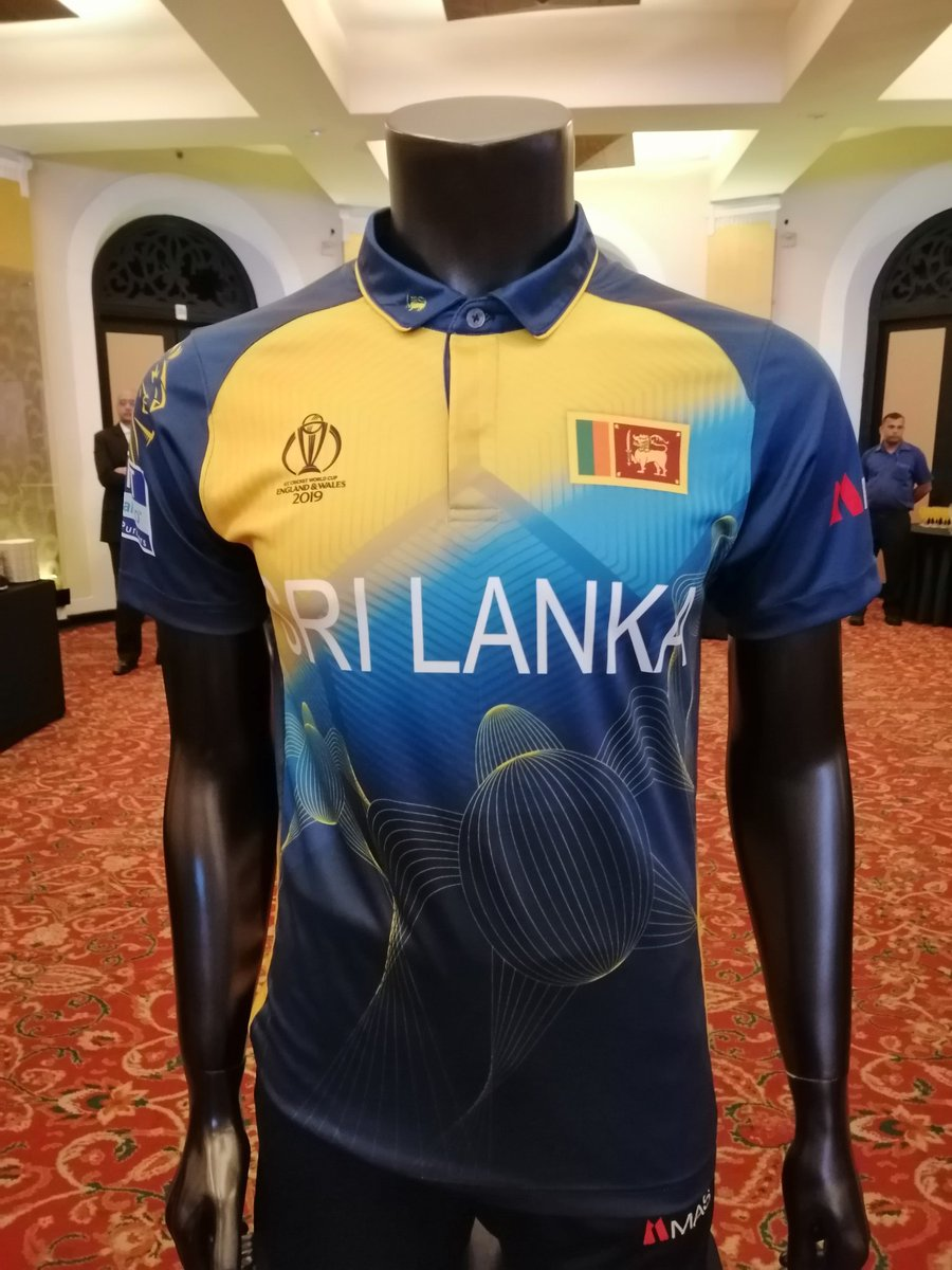 Sri Lanka Team Kit for the ICC Cricket World Cup 2019